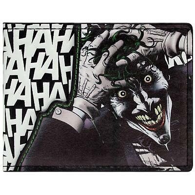 New Official Awesome Batman The Joker Laughing Haha Bi-Fold Wallet
