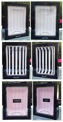 1 Victoria's Secret Ceramic Beauty Fragrance Vanity Tray Baby Pink Black White