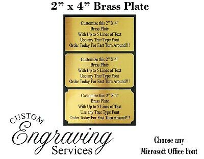 2X4 Custom Engraved Sublimation Brass Plate Picture Plaque Name Tag Trophy Flag
