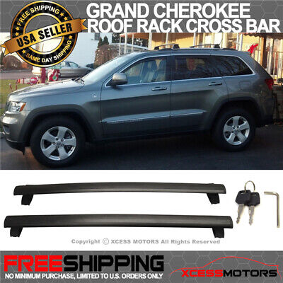Fit For 11-16 Grand Cherokee Roof Rack Cross Bar Luggage OE Style Black Key Lock