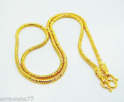 "22K 23K 24K THAI BAHT GOLD GP NECKLACE 24""  25 Grams Jewelry"