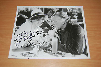 Tatum O'neal - Signed Photo, With Richard Burton From Circle Of Two