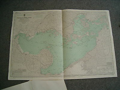 Vintage Admiralty Chart S2874 JAPAN - NAIKAI Areas swept clear of mines 1957 edn
