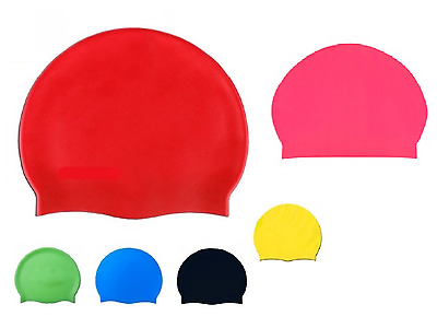 Swimming Pool Cap Unisex Silicone Swim &  Waterproof Shower Hat One Size Fits