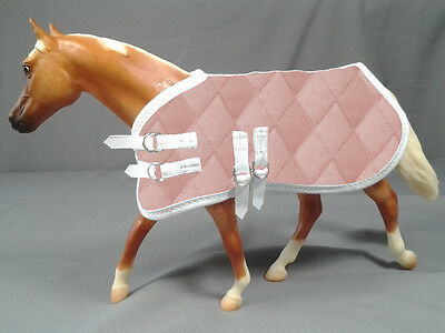 1:9 Scale Model Horse Blanket, Qulted Pink