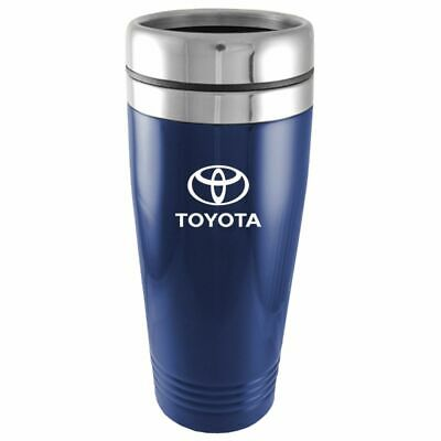 Toyota Logo Blue Insulated Double Wall Stainless Steel Travel Coffee Mug Etch