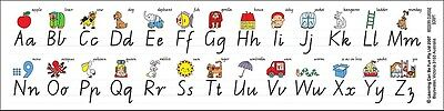 Learn the Alphabet Desk Strips 42 x 10cm Adhesive Wipe Clean ABCs