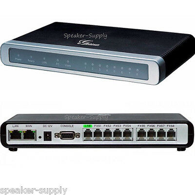 Grandstream 8 Port FXS Gateway VoIP Media Analog Phone System 8 Line PBX GXW4008