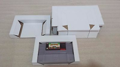 10 SNES Trays Super Nintendo Reproduction Tray Inserts White Box Lot