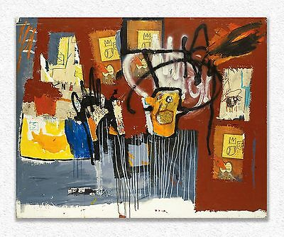 Jean-michel Basquiat    Untitled    122 x 152  cm  STAMPA SU TELA QUADRI CANVAS