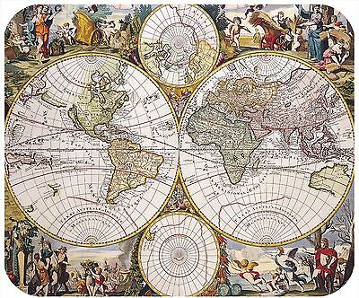 Mouse Pad - Thick Mousepad - Vintage World Map 3