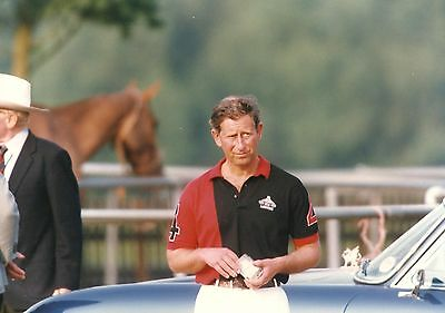 PRINCE CHARLES Before a Polo Match Original Photo By Big Pictures 1990's