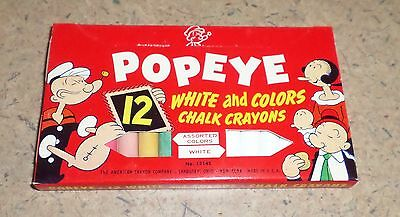 Nos Mint Dated 1953 Popeye White And Color Side Walk Chalk Bl1