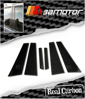 Carbon Fiber Door B Pillar Panel Cover 6 PCS Set for Mercedes W220 S-Class Sedan