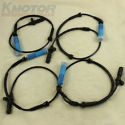 Abs Wheel Speed Sensors Set 4Pc Front Rear Left Right For Bmw E53 X5 2000-04 New