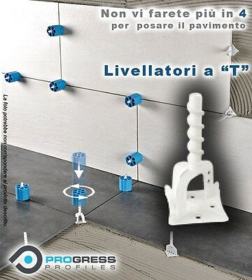 100Pz Base Livellatore Pavimenti Prolevelling Sy. A  Mezza Croce Progress Prst