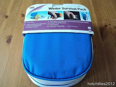AUTO CARE survival kit,tow rope,torch,hand warmers,ice scraper,blanket