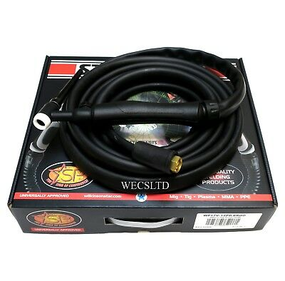 WP17V 150amp INVERTER TIG TORCH, SMALL DINSE PLUG 12.5ft