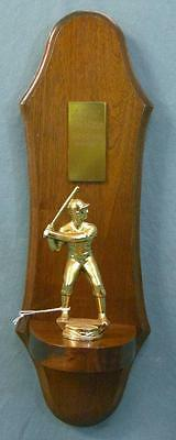 Beautiful vintage 1952 Washington intramural baseball club trophy plaque!