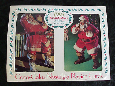 (1993) Coca Cola Nostalgia Playing Cards In Collectable Tin - Limited Edition