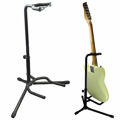 US SELLER ~ Electric, Bass, Acoustic Tubular Guitar Stand Black for musicians
