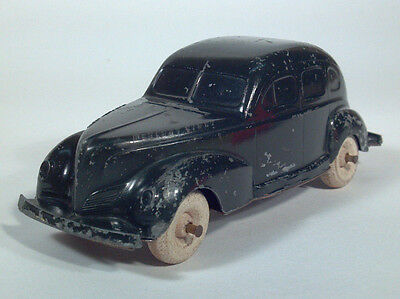 1939 1940 Mercury Eight 8 Sedan Die Cast Scale Model Coin Bank Wood Wheels