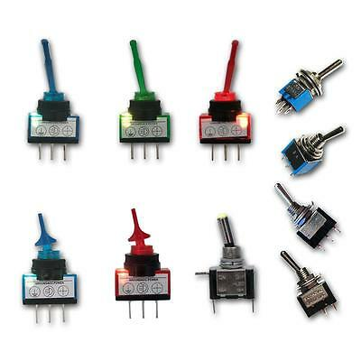 toggle switch different types, subminiatur switches, light Metal