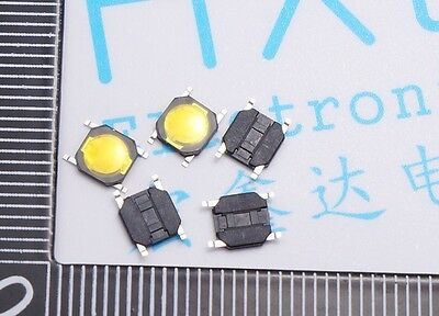 100pcs 4*4*0.8MM Momentary Tact Tactile Switch Reset Switch PushButton Switch SM