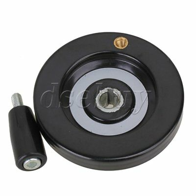 Speed Change Back Ripple Hand Wheel Black for Lathe Milling Machine 10 x 80mm