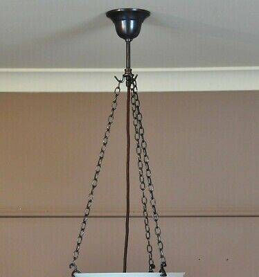 """""""Rouen"""" Short-3 Chain Pendant Light-6 Finishes-Suits Glass Bowl Shade With Lip"""