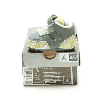 VINTAGE 2008 AJF 3 RETRO (GP) 323950-071 FLINT GREY/MAIZE-SILVER (msrp: $38)