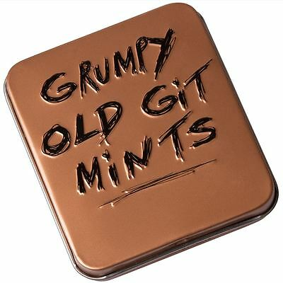 """Grumpy Old Git Mints"" Funny Adult Jokes Novelty Gift ideas for Him"