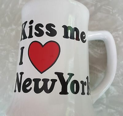 Valentines Kiss Me I Heart Love New York Souvenirs NYC Coffee Tea Mug White