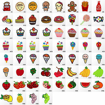 #1275R Small Fruit Sweets Dessert Food Embroidered Sew Iron on Patch Applique