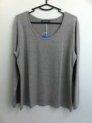 Maternity Plus - Long Sleeve T Shirt/top - Grey - Xl
