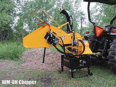 """WOODMAXX  8"""" PTO tractor driven Commercial Duty Wood Chipper WM-8H"""