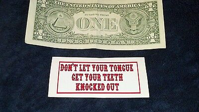 "HELLS ANGELS SUPPORT STICKERS ""TONGUE"" small 1x3 inch"