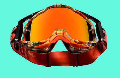 100 % Prozent Racecraft verspiegelt MX Motocross Cross Brille Paradise orange dh