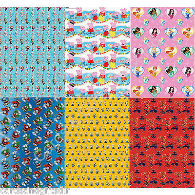 Wrapping Gift Paper Roll Wrap TV & Film Characters Presents Birthday