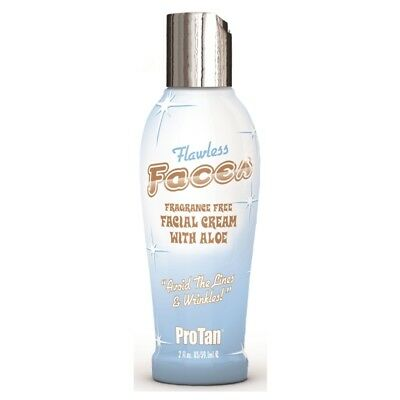 Pro Tan FLAWLESS FACES Sunbed Tanning Lotion Facial Cream 59ml mini bottle