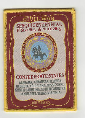 Woven Civil War Sesquicentennial Patch Confederate CSA