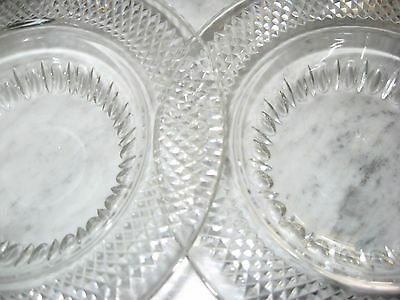 "Pair Edinburgh Crystal Diamond 8"" Plates E & L Scotland"