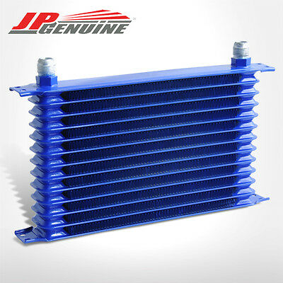 13-Row 10An Turbo Engine Tranmission Differntral Oil Cooler Blue Fit Universal 2