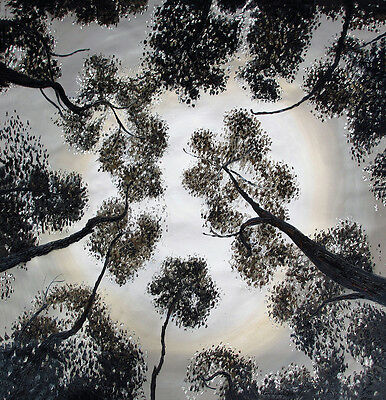 """39"""" x 39""""  PRINT ART  PAINTING forest trees of heaven  ABORIGINAL not framed"""