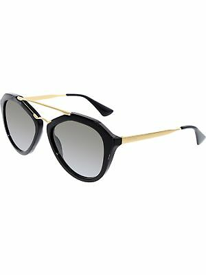 Prada Women's Gradient PR12QS-1AB0A7-54 Black Butterfly Sunglasses