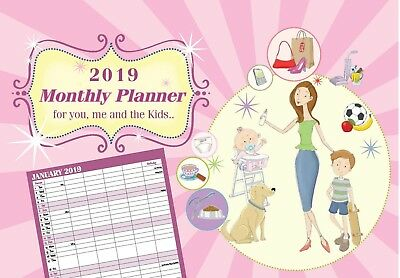 Arpan 2017 Family Appointment Planner - Calendar One Month to View -CL-9307