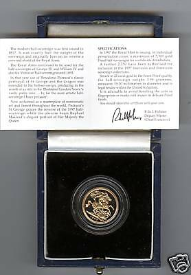 1997 Boxed Proof Gold Half Sovereign With Certificate
