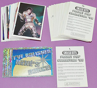 Full Set Neuf Panini Smash Hits Planet Pop 156 Stickers 1998 France Coll. '99