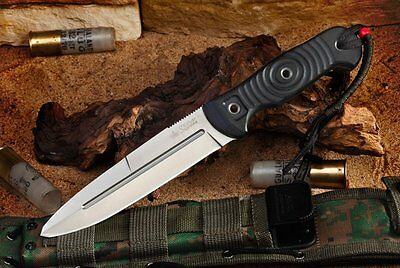 Kizlyar Supreme Legion AUS-8 Satin Fixed Blade Outdoor Knife Quality Made Russia
