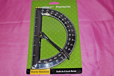 Caliber Plastic Protractors 180 Degree With Swing Arm Lot of 12 S5192